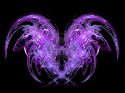 Black And Purple Angel Background