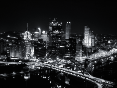 black and white city background #3290