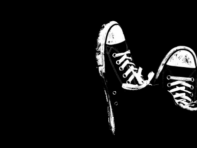 Black And White Shoes Background