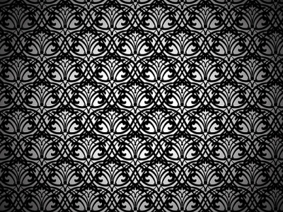 black lace pattern on white background #15029
