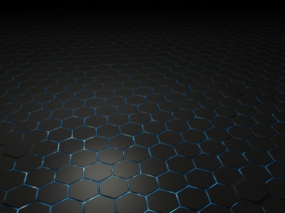Black Metal Hexagon Hd Wallpaper