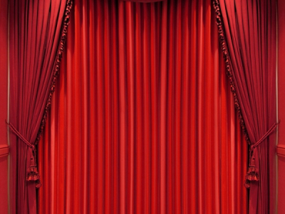 Black Red Stage Background Curtains Velvet Stage