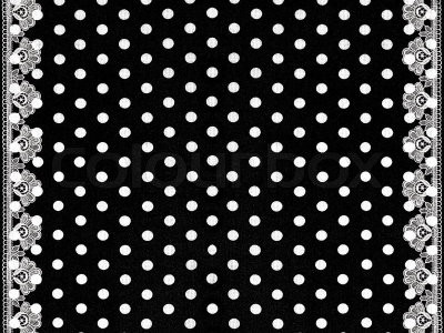 Black White Polka Dots Background With Lace