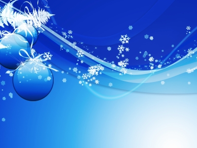 blue, ball, christmas, holiday ppt background #1055