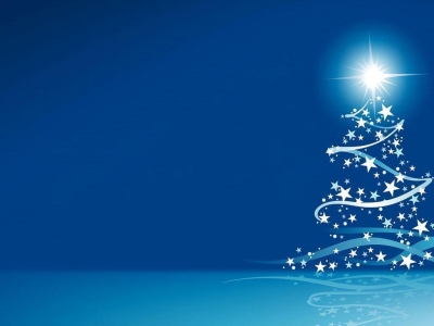 blue christmas wallpaper tree #11760
