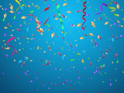 Blue Confetti Celebration Background