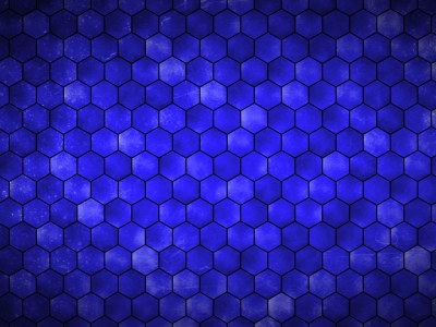 Blue Hexagon Grid Hd Background