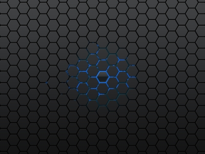Blue Hexagon Patterns Walpaper