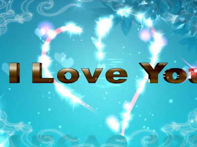 Blue I Love You Background