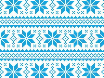 Blue Ugly Christmas Sweater Pattern Wallpaper