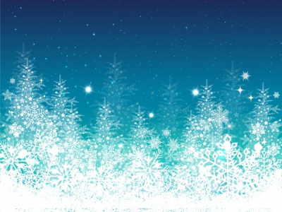 blue, winter, christmas, tree holiday ppt background #1033