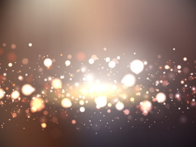 Bokeh Background With Golden Lights Vector