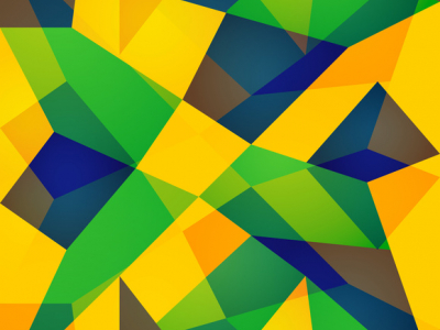 Brazil Flag Concept Colorful Background