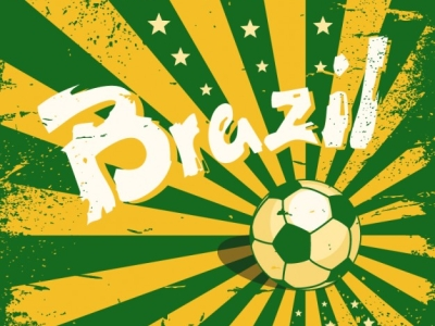 Brazil Football Background