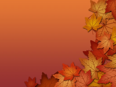 Brown Leaf Border Background