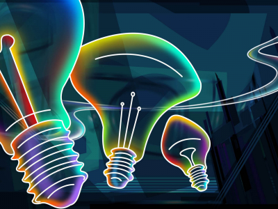 Bulb Neon Art Wallpaper