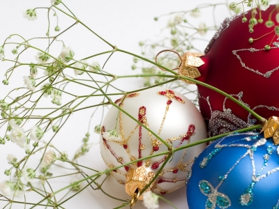 Christmas Ball Ornaments  Background Hd