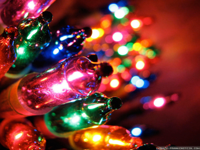 High-quality Christmas Lights Background #1646