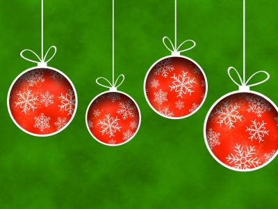 Christmas Ornaments Background Clipart