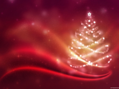Red Christmas Powerpoint Background