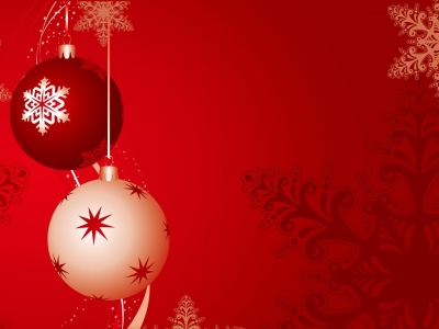 red bubles christmas powerpoint background #616
