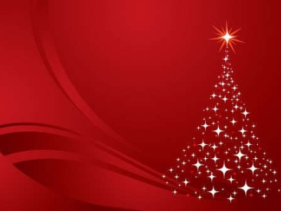 Christmas Red Ppt Background