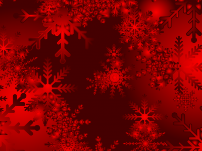 Christmas Snowy Red Walpaper