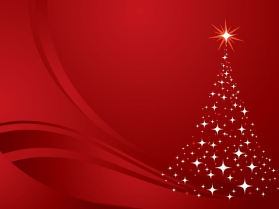 Christmas Tree Background Red Vector Graphic