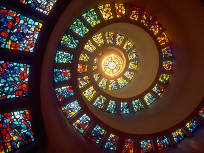 Circle Stained Glass Wallpaper