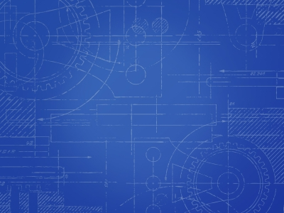 Circular Blueprint Background