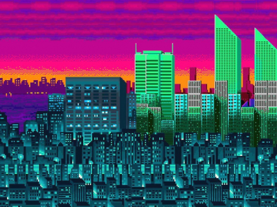 City Pixel Desktop Wallpapers Backgrounds