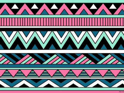 Colored Cool Tribal Background