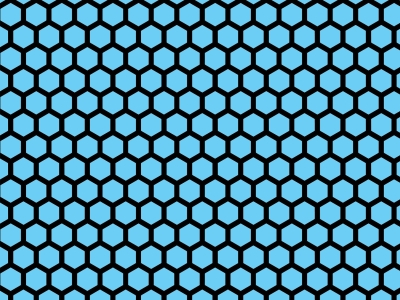 Colorful Hues Hexagon Honeycomb Background