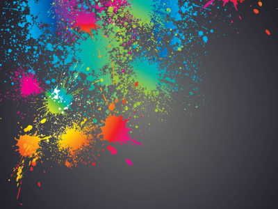 colorful splashed paint splatter background #13402