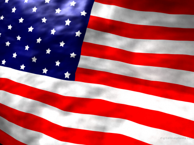 Colors American Flag Background