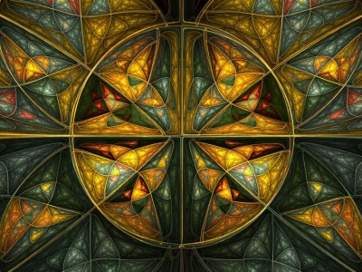 complex stained glass wallpaper #12784