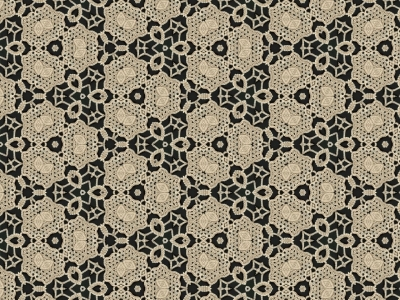 cream lace over black background  #15047
