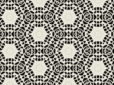 cream wool lace over black background clipart  #15038