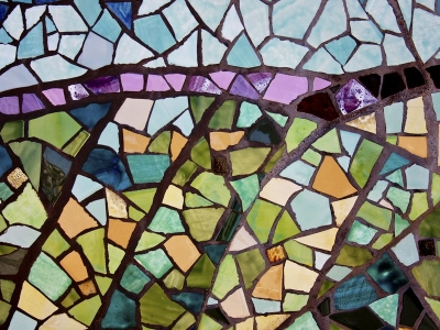 Create Mosaics Stained Glass Walpaper