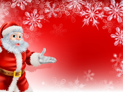 Cute Santa Merry Christmas Background