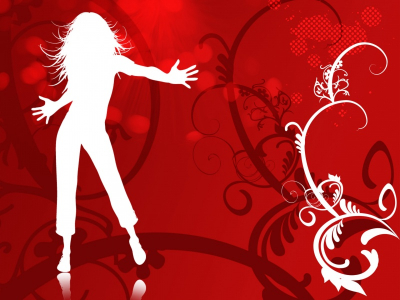 Dancing Girl Vector Free Ppt Background