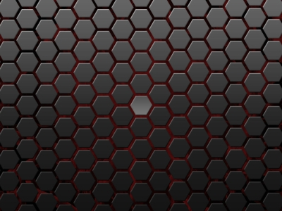 Dark Black Hexagon Background