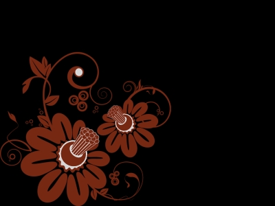 Dark Floral Ppt Backgrounds