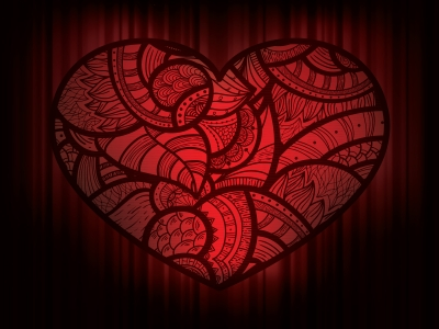 Dark Hearts Love Ppt Backgrounds