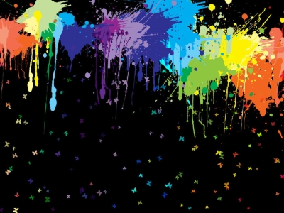 dark paint splatter background #13403