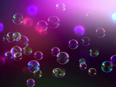 Dark Pink Bubbles Background
