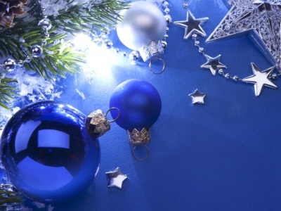Download Free Blue Christmas Background