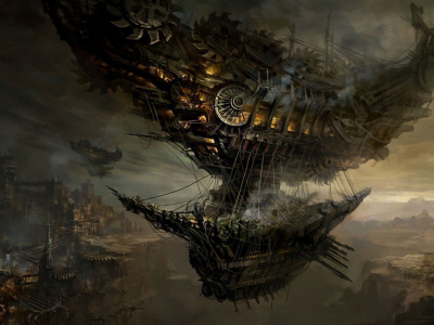 Download Steampunk Blimp Wallpaper 1920x1080
