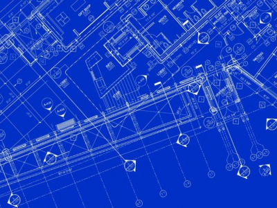 Electrical Blueprint Background