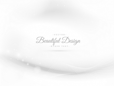 elegant white background with wave vector #15434